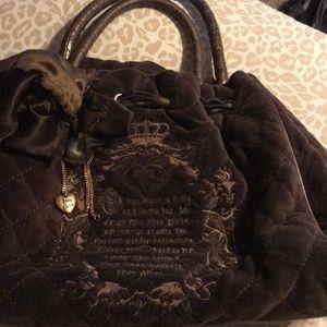 Brown Velvet Juicy Couture handbag